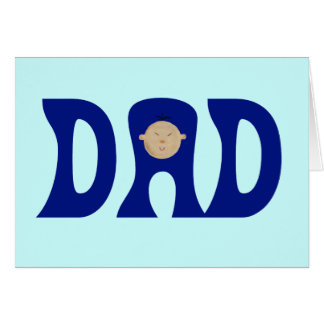 Dad to Asian Baby Greeting Card