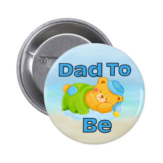 Dad to Be (Boy) 6 Cm Round Badge