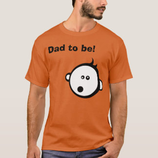 Dad to be! Cool baby cartoon dad to be shirt