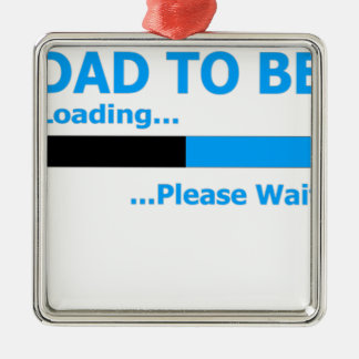 Dad to be loading... please wait. Silver-Colored square decoration