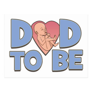 Dad to Be Maternity Post Card