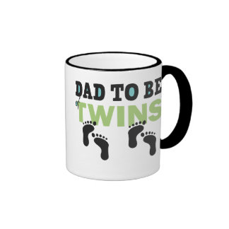 Dad To Be of Twins Ringer Coffee Mug