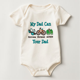 Dad Triathlon Organic Infant Creeper