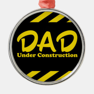 Dad Under Construction Christmas Ornament
