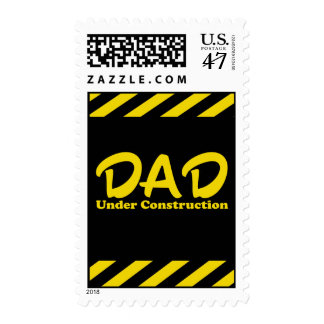 Dad Under Construction Postage Stamps