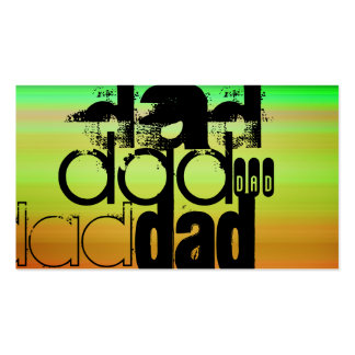 Dad; Vibrant Green, Orange, & Yellow Pack Of Standard Business Cards