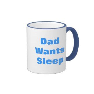 Dad WantsSleep Ringer Mug