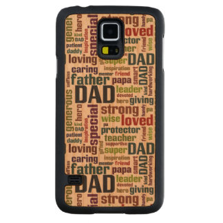 Dad Word Cloud Text Father's Day Typography Cherry Galaxy S5 Slim Case