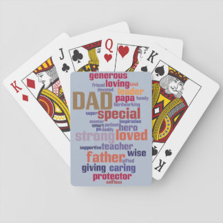 Dad Word Cloud Text Father's Day Typography Poker Deck