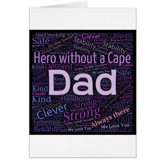 Dad Wordart Image Card