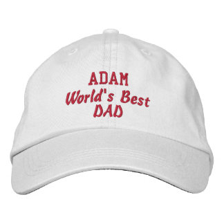 DAD World's Best Dad Custom Name Father's Day Embroidered Baseball Caps