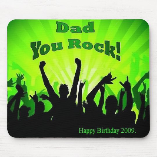 Dad you rock mouse mat