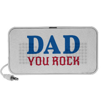 Dad you rock, text design for father's day portable speaker