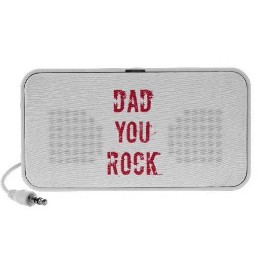 Dad you rock, text design for father's day mp3 speaker