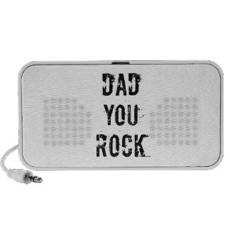 Dad you rock, text design for father's day laptop speakers