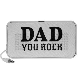Dad you rock, text design for father's day iPhone speaker