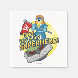 Dad, You're My Superhero Paper Serviettes