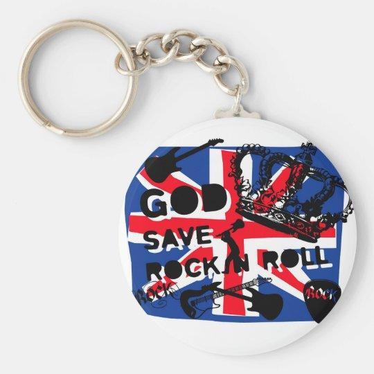 Dadawan God save Rock'n'Roll Basic Round Button Key Ring