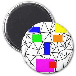 dadawan-shout 6 cm round magnet