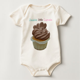Daddies little cupcake baby clothing gift baby bodysuit