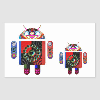 Daddy and Baby Android  -  Art101 by Navin Stickers