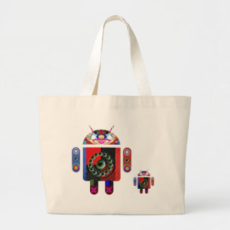 Daddy and Baby Android  -  Art101 by Navin Tote Bag