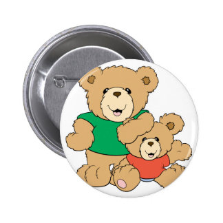 Daddy and Baby Boy Bear 6 Cm Round Badge