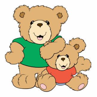 Daddy and Baby Boy Bear Photo Cutouts