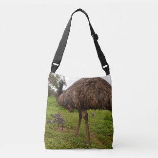 Daddy_And_Baby_Emus_Full_Print_Cross_Body_Bag. Crossbody Bag
