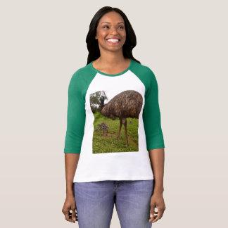 Daddy and Baby Emus, Ladies Raglan T-shirt