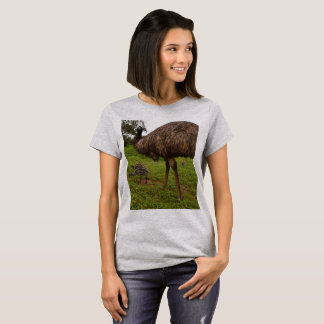 Daddy and Baby Emus, Ladies T-shirt