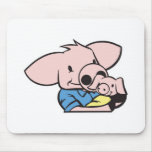 daddy and baby pig mouse mats