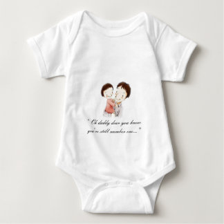 Daddy and daughter/Father and girl Baby Bodysuit