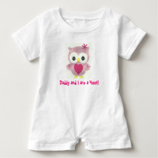 Daddy and I are a Hoot Personalized Owl Romper Baby Bodysuit
