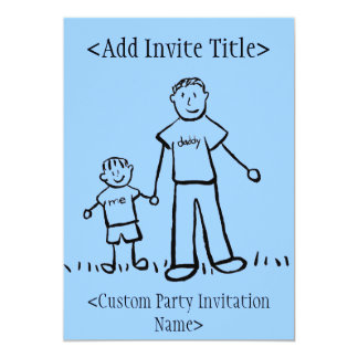 """Daddy and Me"" Little Boy Invitation or Invites"