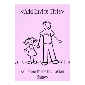 """""""Daddy and Me"""" Little Girl Invitation or Invites"""