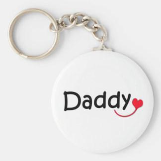 daddy basic round button key ring