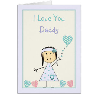 Daddy Birthday from little girl Card