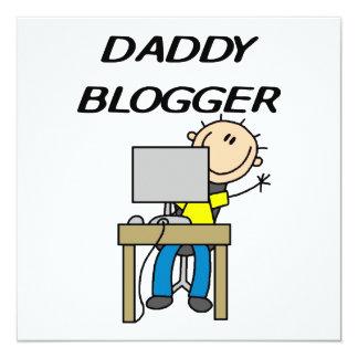 Daddy Blogger 13 Cm X 13 Cm Square Invitation Card