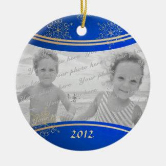 Daddy Christmas Photo Frame Round Ceramic Decoration