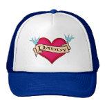 Daddy - Custom Heart Tattoo T-shirts & Gifts Trucker Hat