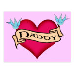 Daddy - Custom Heart Tattoo T-shirts & Gifts Post Card