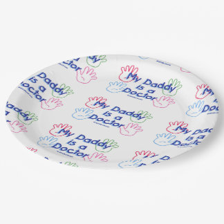 Daddy Doctor Paper Plate