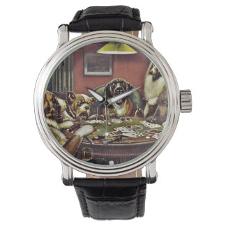 Daddy Dogs Playing Cards Wrist Watches