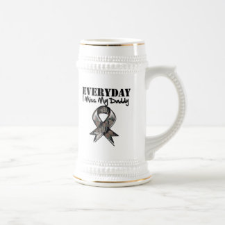 Daddy - Everyday I Miss My Hero Military 18 Oz Beer Stein