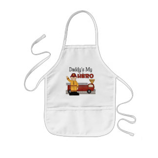 Daddy Firefighter Children's Gifts Kids Apron