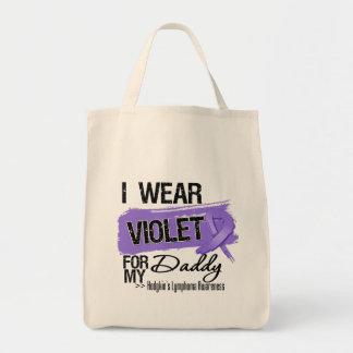 Daddy Hodgkins Lymphoma Ribbon Bags