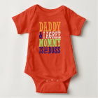 Daddy & I Agree Mummy Is The Boss Baby Bodysuit