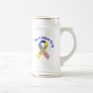 Daddy - I Wear A Ribbon Military Patriotic Beer Stein