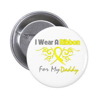 Daddy - I Wear A Yellow Ribbon Military Support 6 Cm Round Badge